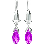 Chamilia Earring Bead Drop Briolette Fuchsia Swarovski - Soho Collection