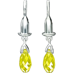Chamilia Earring Bead Drop Briolette Yellow Swarovski - Soho Collection