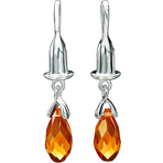 Chamilia Earring Bead Drop Briolette Orange Swarovski - Soho Collection
