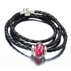 Chamilia 2012 Valentine's Day Designer SoHo Gift Set Leather Bracelet