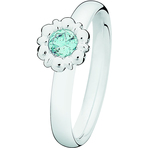 Spinning Jewelry March Birthstone Ring