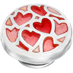 Kameleon Red Enamel Hearts Lovepop Jewelpop