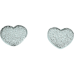 Spinning Jewelry Glitter Heart Earrings