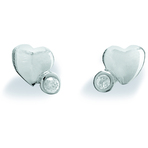 Spinning Jewelry Heart Twist Earrings