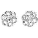 Spinning Jewelry Flower Dust Earrings