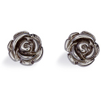 Spinning Jewelry Black Rose Earrings