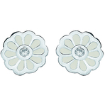 Spinning Jewelry Mini Blossom White Earrings