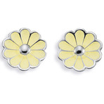 Spinning Jewelry Blossom Light Yellow Earrings