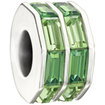 Chamilia Double Baguette Green