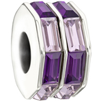 Chamilia Double Baguette Purple