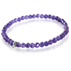 Chrysalis Calm Cut Amethyst Stretch Charm Bracelet