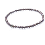 Chrysalis Calm Black Pearl Stretch Charm Bracelet