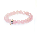 Chrysalis Cut Rose Quartz Stretch Charm Bracelet