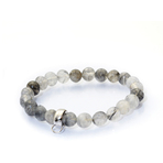 Chrysalis Cut Cloudy Quartz Stretch Charm Bracelet