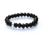 Chrysalis Cut Onyx Stretch Charm Bracelet