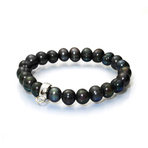 Chrysalis Black Pearl Stretch Charm Bracelet