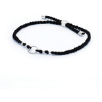 Chrysalis Black Adjustable Plaited Cord Bracelet
