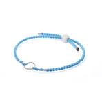 Chrysalis Blue Adjustable Plaited Cord Bracelet