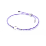 Chrysalis Purple Adjustable Plaited Cord Bracelet
