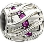 Chamilia Enchanting Spiral Purple Swarovski Bead