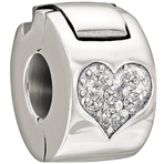 Chamilia Jeweled Heart Lock