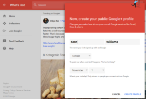 Public Google+ profile