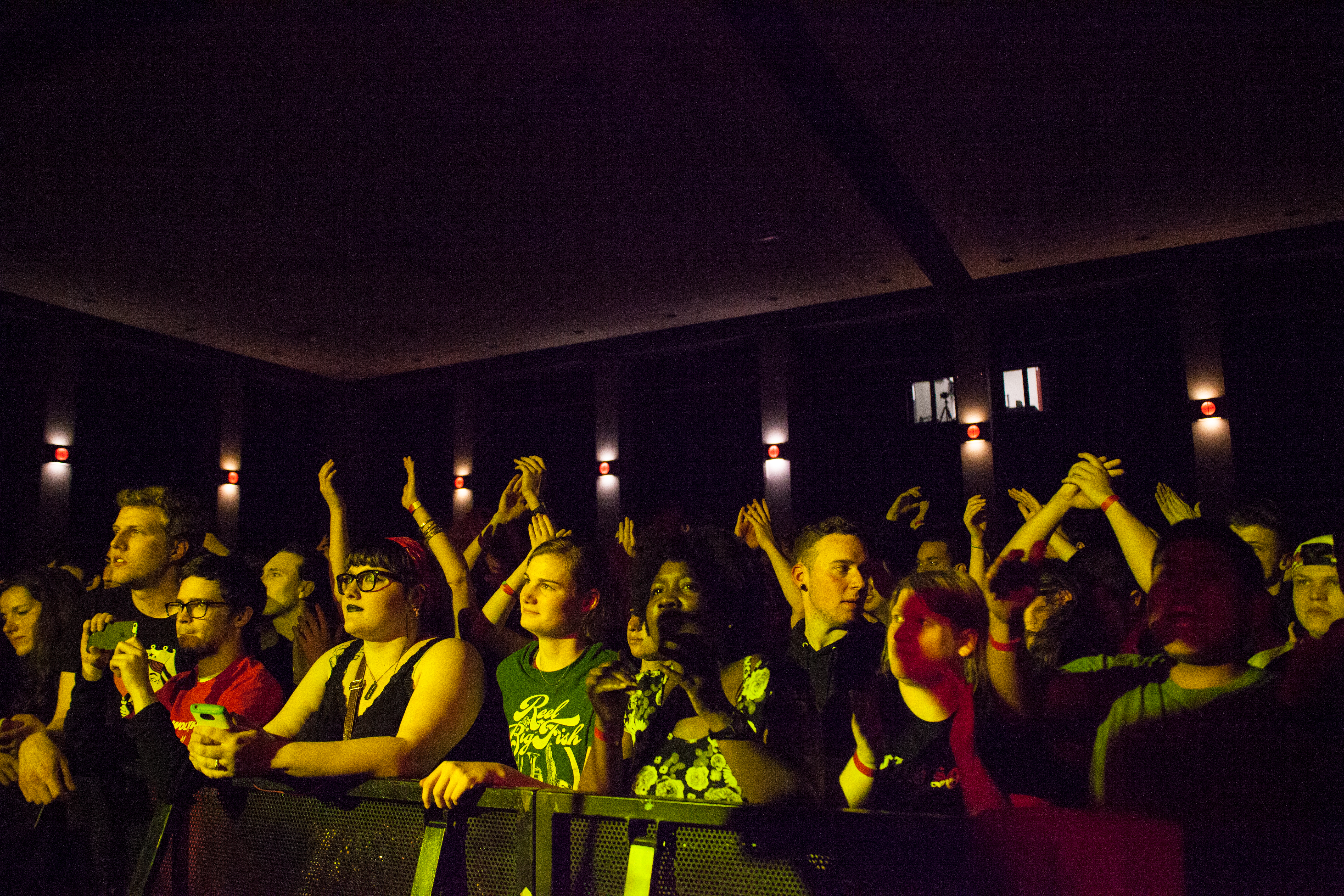 The crowd for the event was a mix of graduate and undergraduate students. Many of the students in attendance were able to grab a ticket to the show the second time around, as they did not hear about the initial show. KRYSTEN MASSA / THE STATESMAN