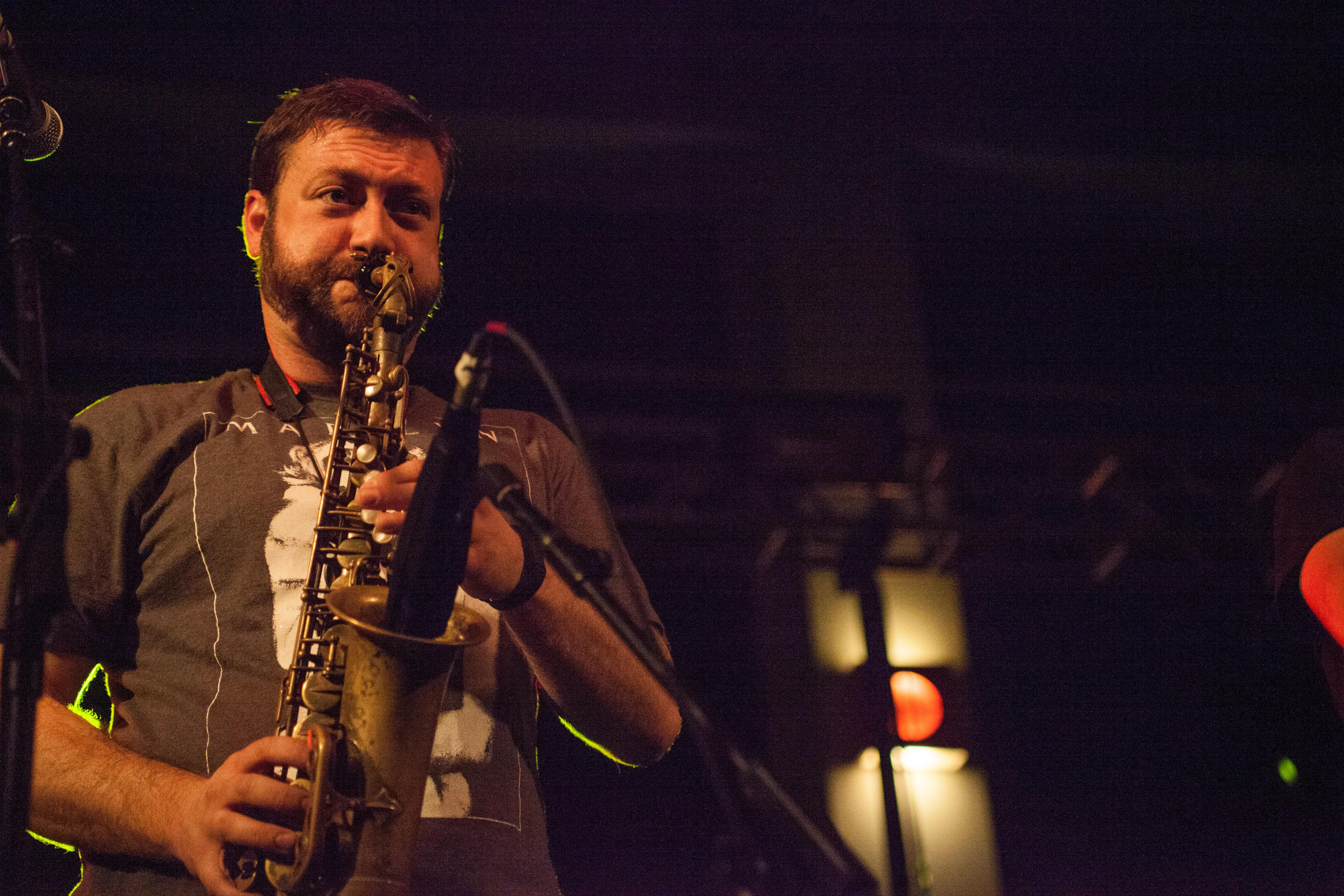 Jim Conti, above, has been the alto saxophone player for Streetlight Manifesto since 2003. KRYSTEN MASSA / THE STATESMAN