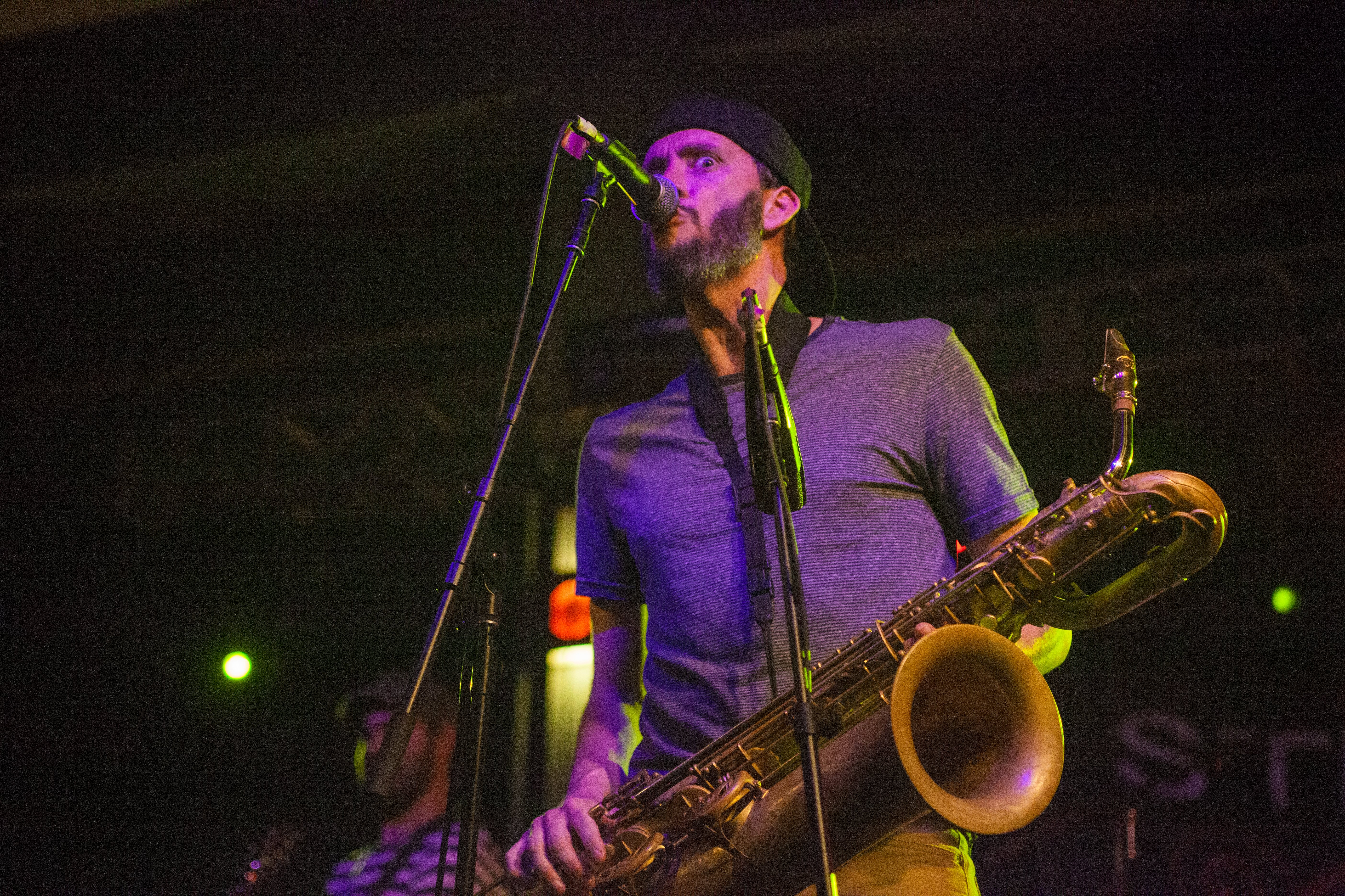 Mike Brown, above, joined the band in 2005. He graduated from New Jersey City University with a B.A. in music performance. KRYSTEN MASSA / THE STATESMAN