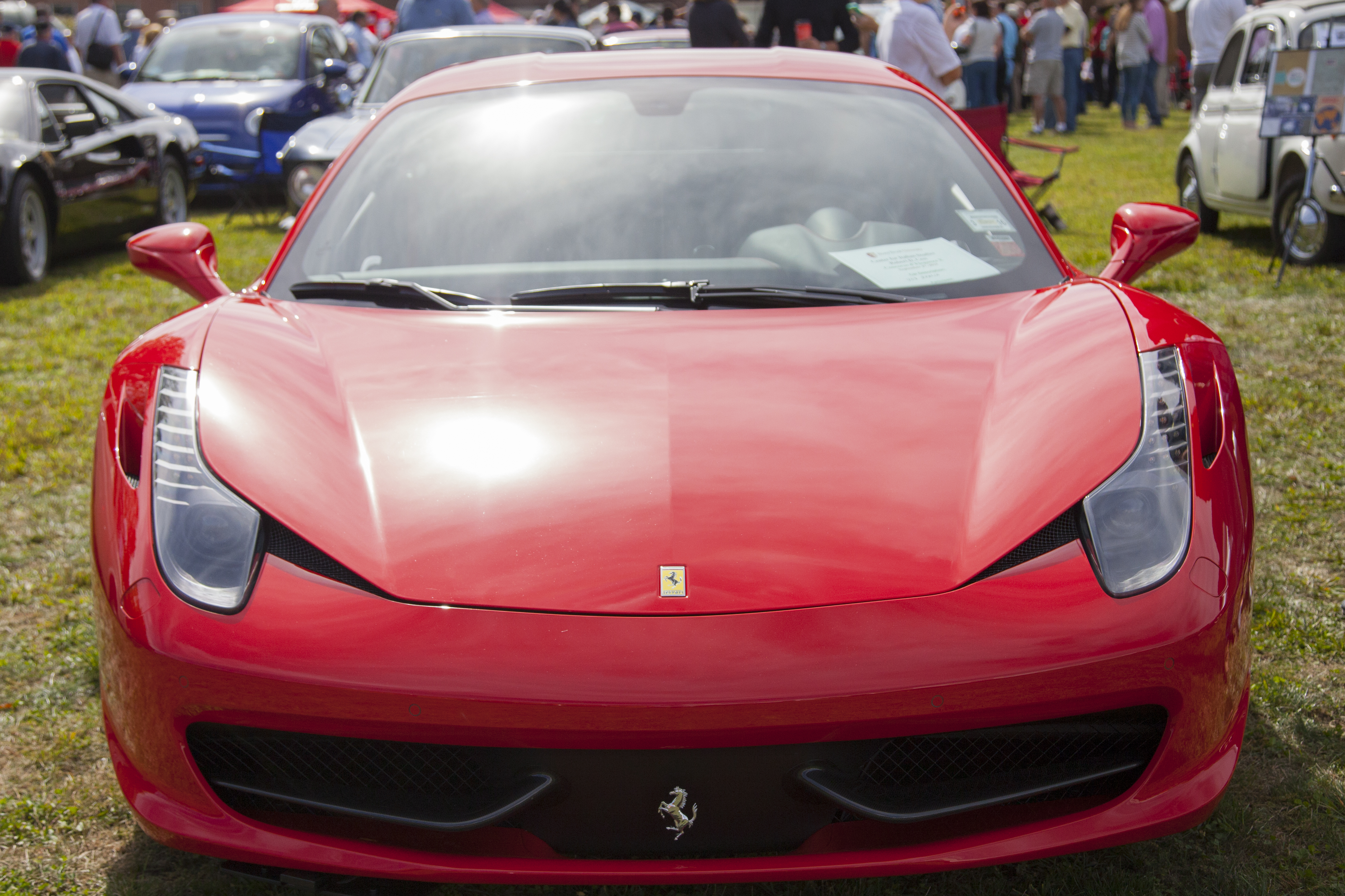A Ferrari 458 Italia at the Concorso d'Eleganza X. GISELLE MIRANDA/THE STATESMAN