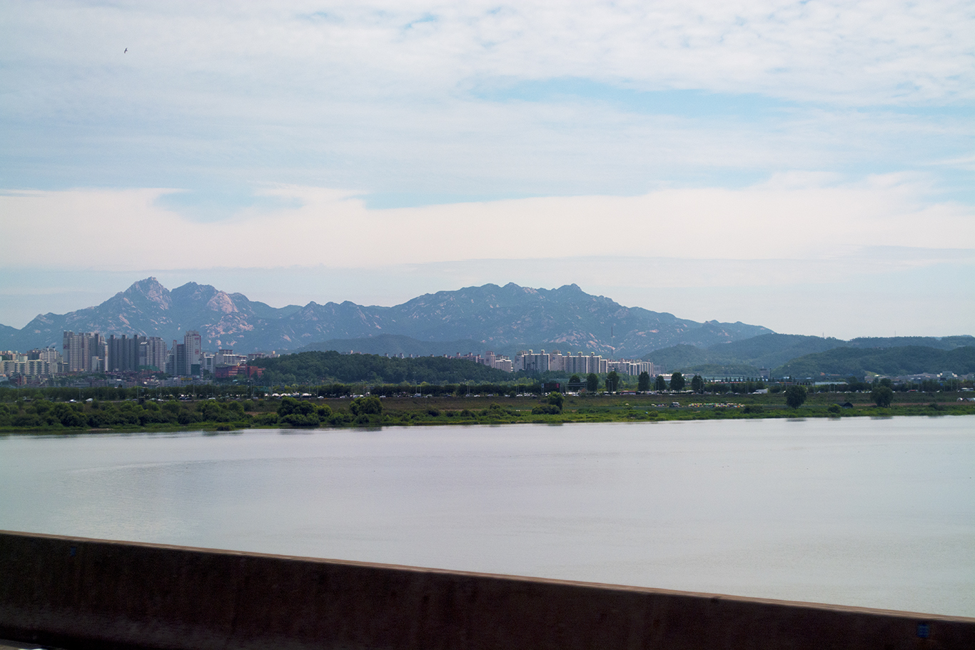 The eastern side of Goyang city, South Korea. The heart of Goyang's western district is only eight miles from the Military Demarcation Line that divides the two Koreas.(CHRISTOPHER CAMERON/THE STATESMAN)