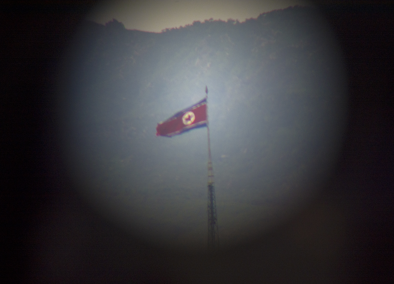 The Panmunjeom flagpole in
