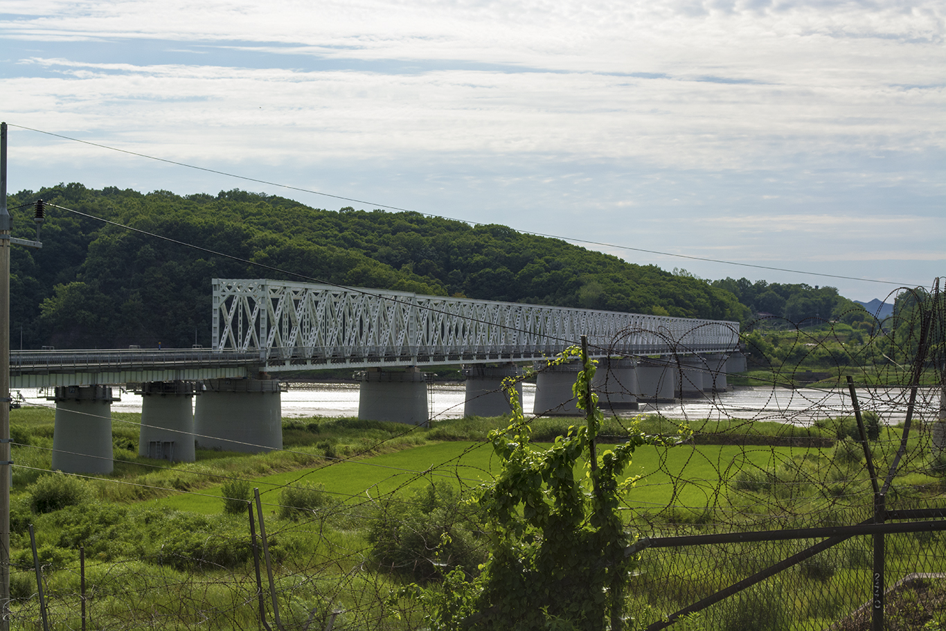 The Freedom Bridge as seen from Imjingak on the South Korean side of the Military Demarcation Line. The Freedom Bridge was named for its part in repatriating POWs during the Korean War. (CHRISTOPHER CAMERON/THE STATESMAN)