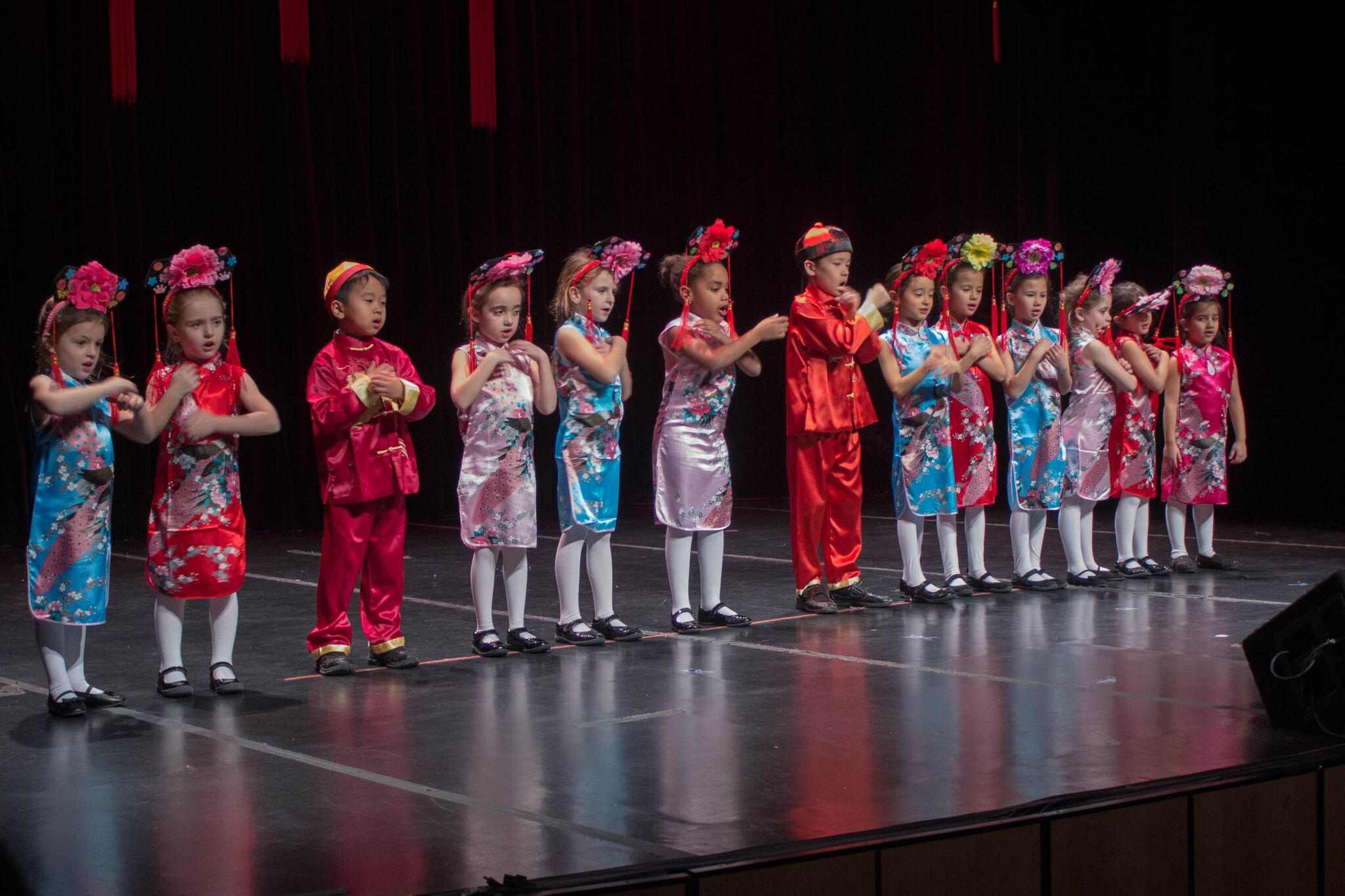 Students from the Harbor Country Day School sang numerous Mandarin nursery rhymes. Mandarin is offered to students from preschool through sixth grade at the school, located in Head of the Harbor.  MANJU SHIVACHARAN/ THE STATESMAN
