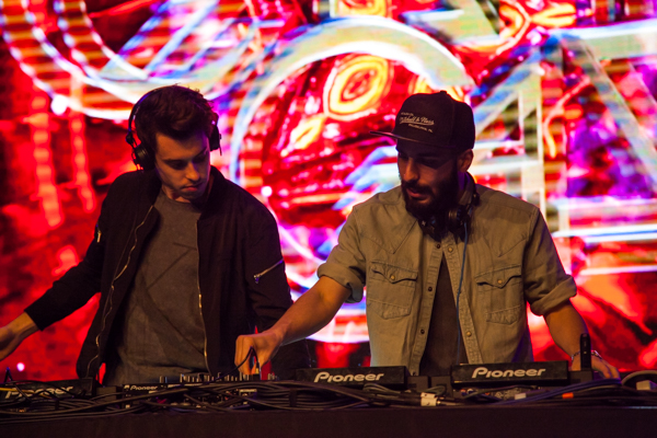 Cash Cash, above, performed a set before Future. KRYSTEN MASSA/THE STATESMAN