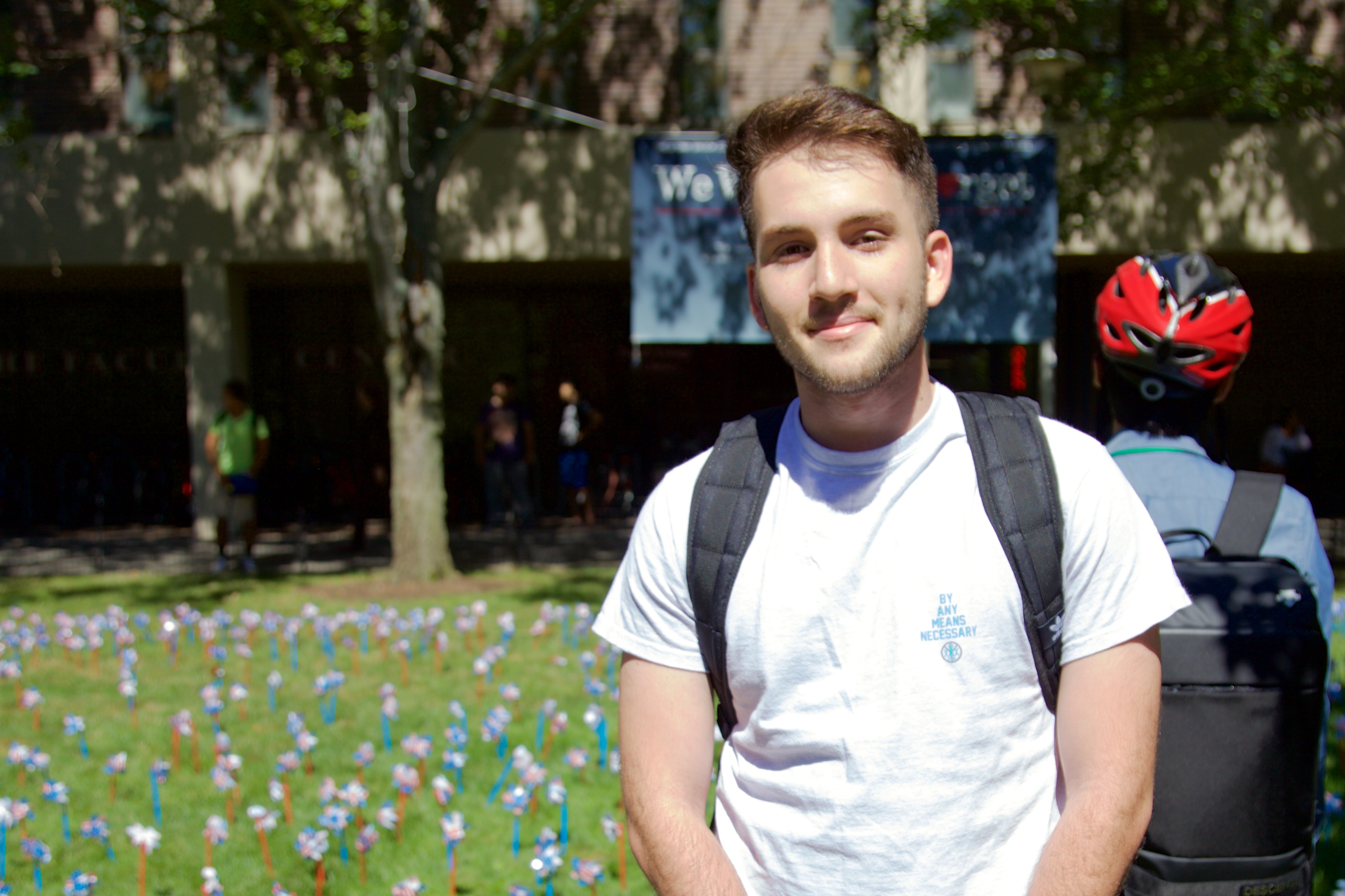 """I'm from Miami, Florida. I feel like it's good to remember but not to let it define relations with other countries and how we treat people and what not."" - Noyan Darici, economics major. ANGELICA CARPENTER/THE STATESMAN"