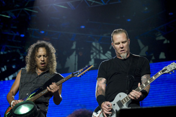 Kirk Hammett (left) and James Hetfield (right) of Metallica on tour in Mexico on June 6, 2009. MIKE MURGA/FLICKR VIA CC BY-NC 2.0