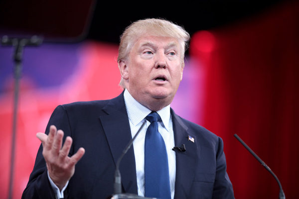 Donald Trump speaking at the 2015 Conservative Political Action Conference in National Harbor, Maryland. He won the 2016 US election stunning many media outlets who thought he had no chance of winning. GAGE SKIDMORE/FLICKR VIA CC BY-SA 2.0