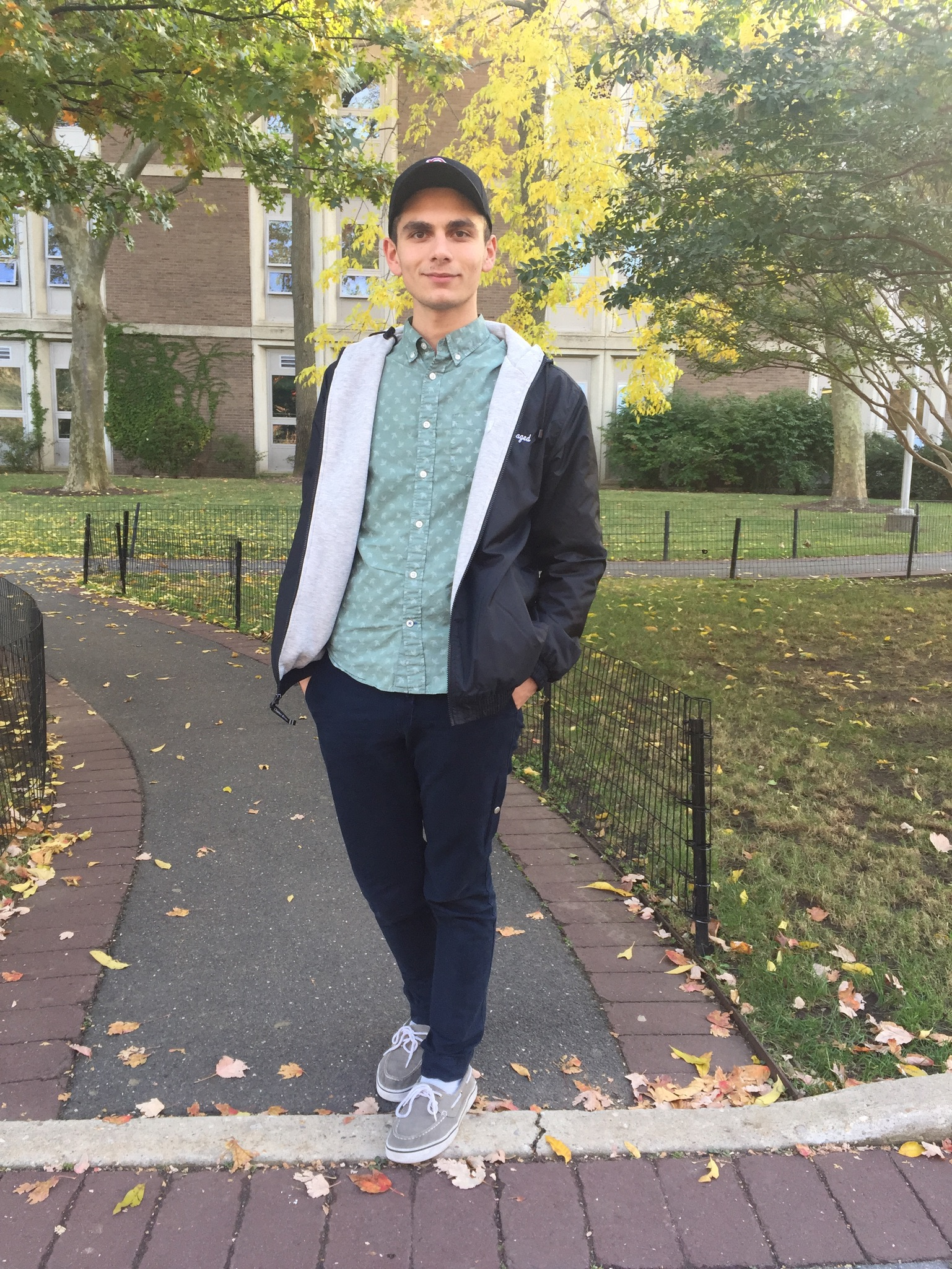 """Zacharia Sawaged, junior biochemistry major. """"My style is nice and neat but then still a touch of my own personality and just something that can catch someone's eye."""" CHEREESE CROSS/THE STATESMAN"""