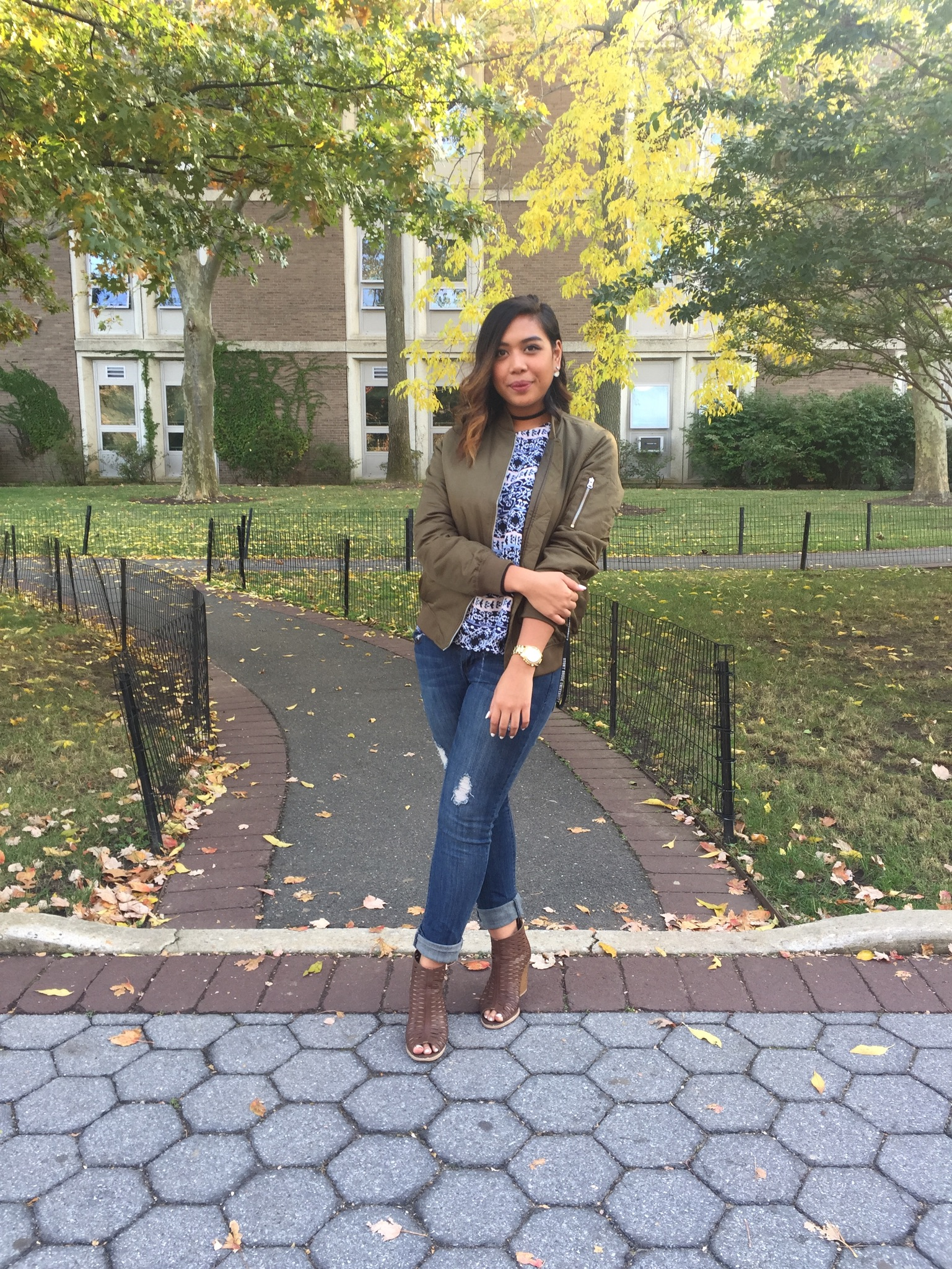 """Angelica Husni, junior biochemistry major. """"Whatever makes you feel comfortable and feeling confident at that moment is what I dress to."""" CHEREESE CROSS/THE STATESMAN"""