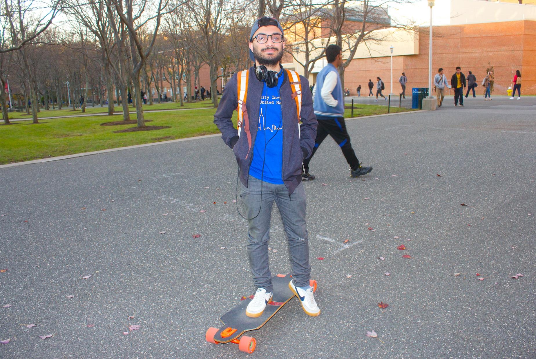 Omar Naimi, senior biochemistry and mathematics double major. RAWSON JAHAN/THE STATESMAN