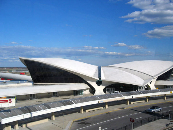 A view of the TWA Flight Center building at John F. Kennedy International Airport in New York City. PHEEZY/FLICKR VIA CC BY 2.0