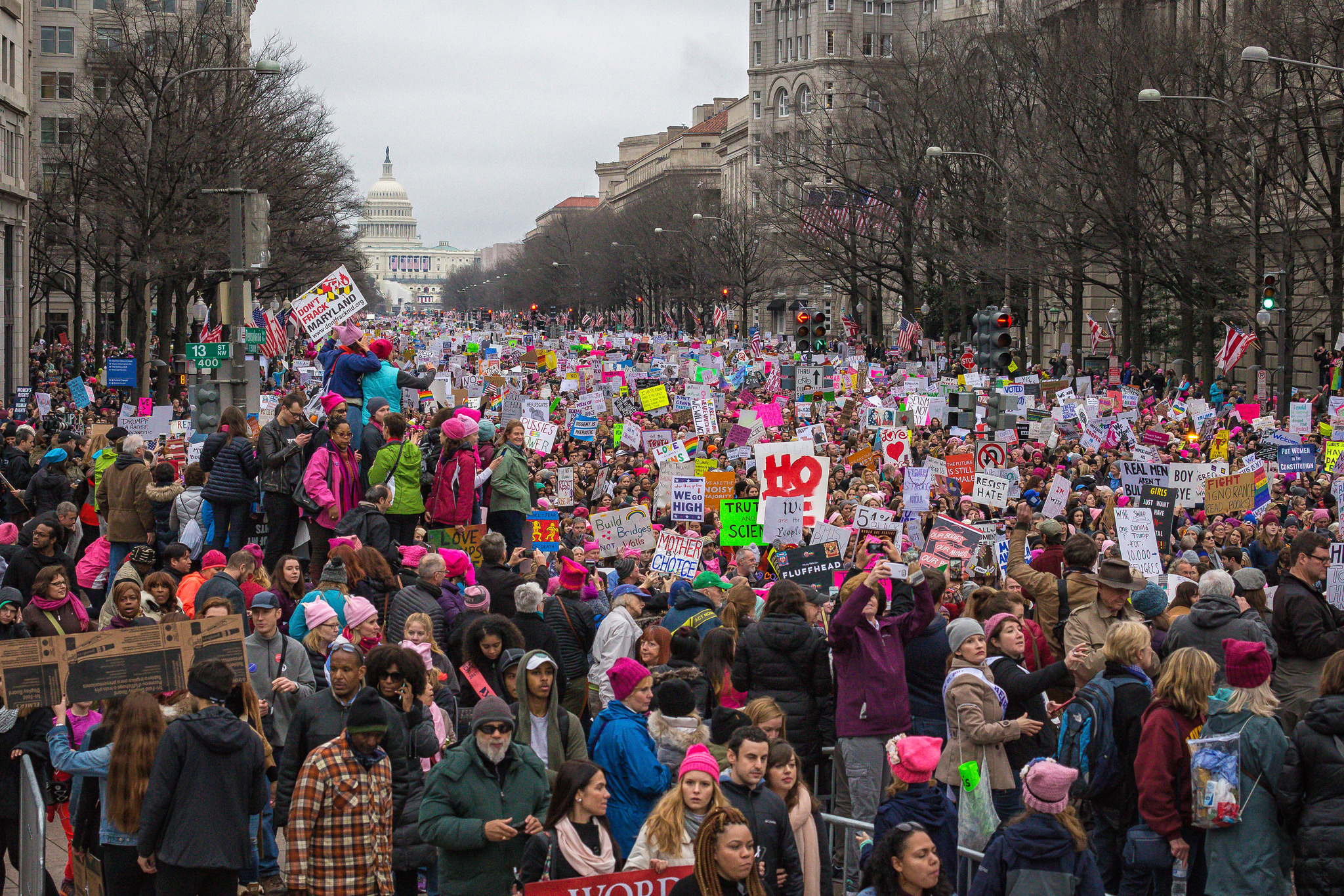 The women's march on washington MOBILUS IN MOBILI/FLICKR VIA CC BY-SA 2.0