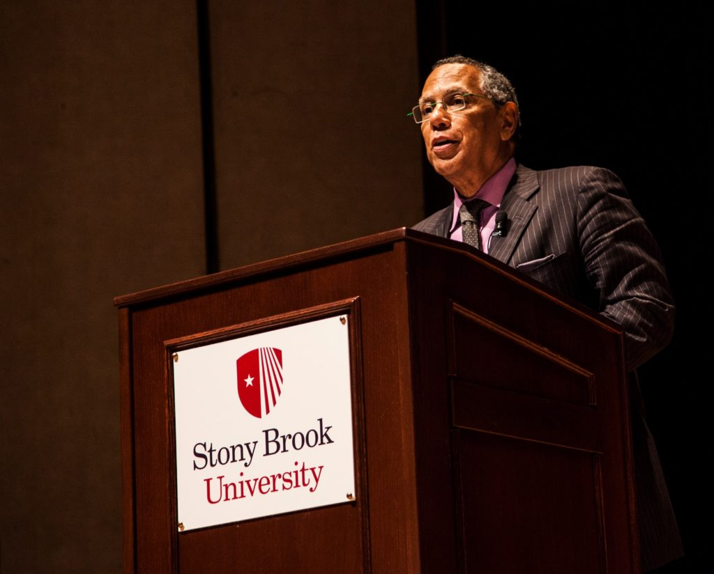 "New York Times Editor Dean Baquet discusses his life as a journalist at ""My Life As..."" on Feb. 23. SKYLER GILBERT/THE STATESMAN"