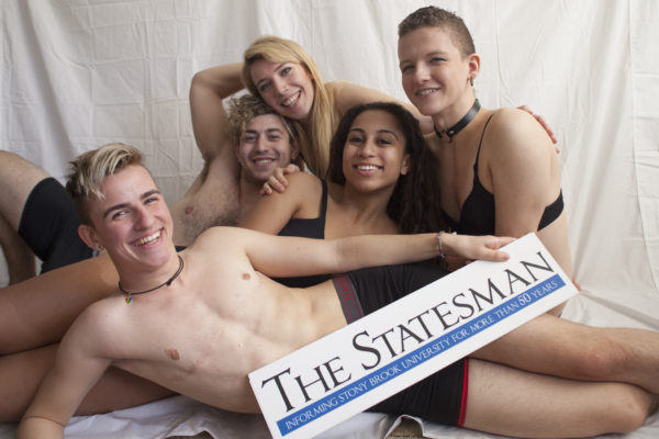 This year's annual Sex and Relationship's issue featured volunteer models representing the diversity of Stony Brook University in terms of race, sexuality and gender identity. ARACELY JIMENEZ/THE STATESMAN