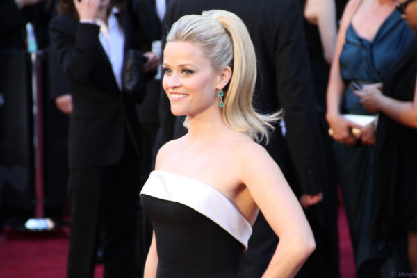 "Reese Witherspoon at the 83rd Academy Awards red carpet. She stars as ___ in the HBO show ""Big Little Lies."" MINGLEMEDIATV/FLICKR VIA CC BY SA 2.0"