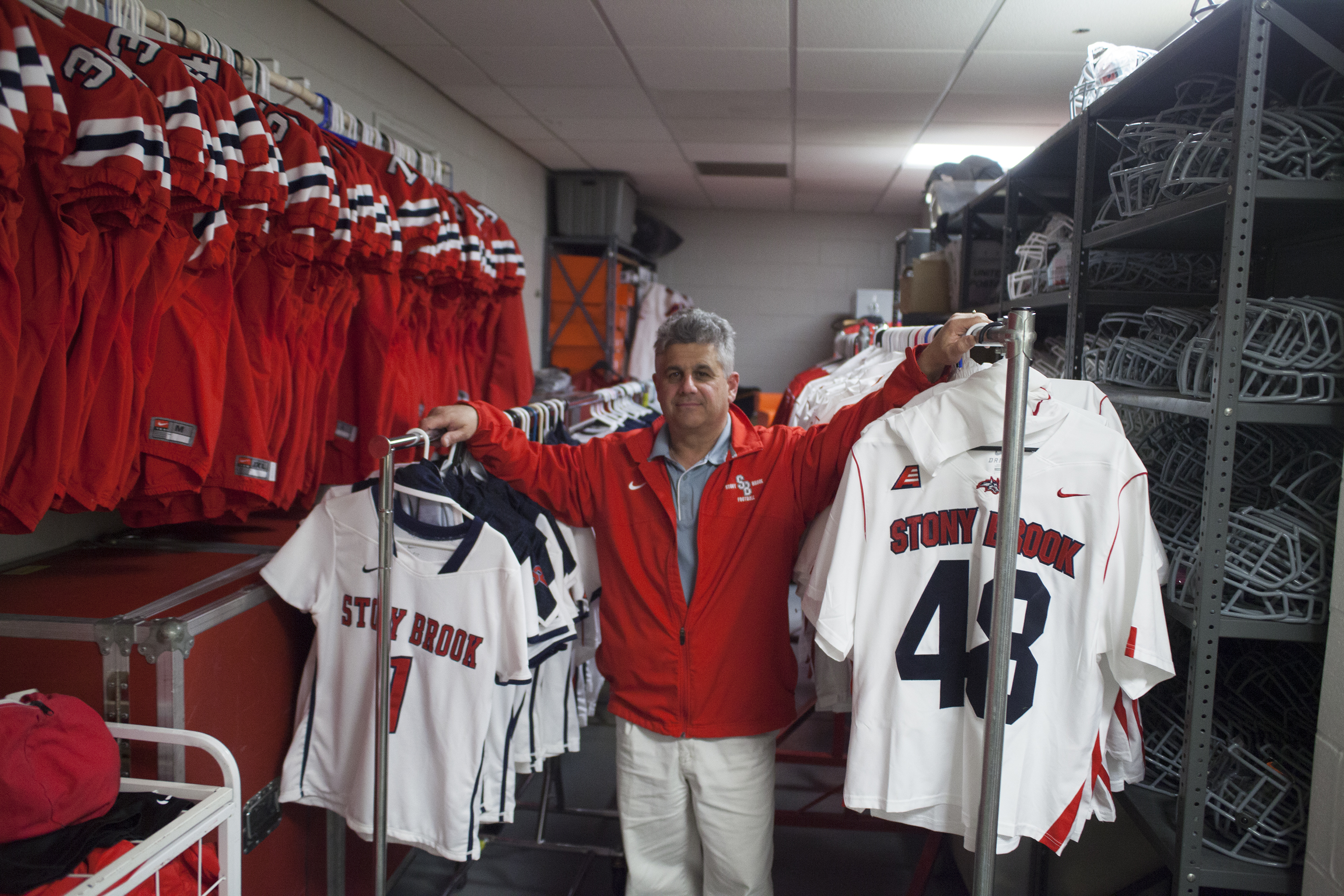 Enzo Zucconi, above, has worked as Stony Brook Athletic's TIM OAKES/THE STATESMAN