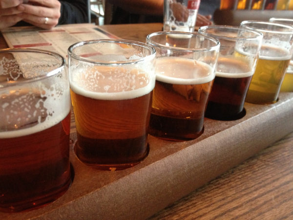 Craft beers, like the samples shown above,