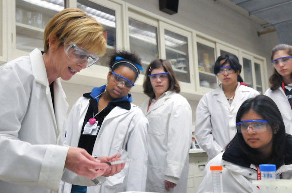 Argonne National Laboratory demonstrates to 350 young women from Chicago-area high schools why a career in science might be right for them in April 2009. Brookhaven National Lab along with Stony Brook's WISE program hosted a symposium ARGONNE NATIONAL LABORATORY/FLICKR VIA CC BY NC SA 2.0