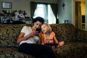 "Gianna Toboni, left, with Kai Shappley, right. Shappley is a transgender 5-year-old who spoke to Toboni for the VICE episode ""Trans Youth"" that airs tomorrow at 11pm. PHOTO COURTESY OF HBO"